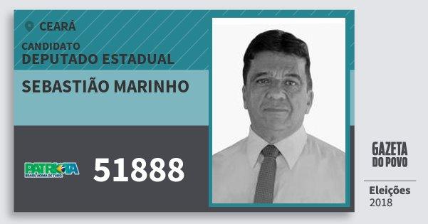 Santinho Sebastião Marinho 51888 (PATRI) Deputado Estadual | Ceará | Eleições 2018