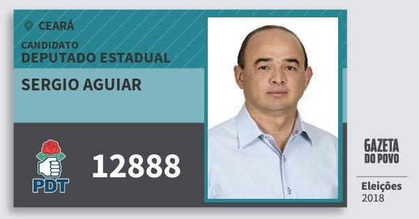 Santinho Sergio Aguiar 12888 (PDT) Deputado Estadual | Ceará | Eleições 2018