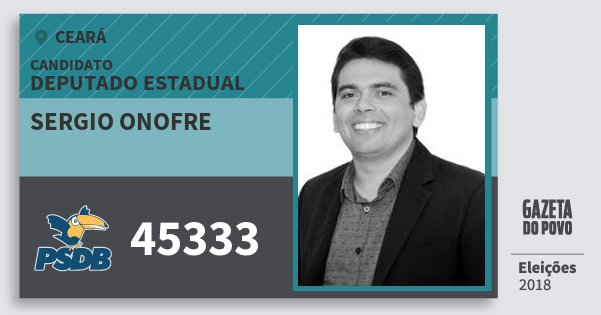 Santinho Sergio Onofre 45333 (PSDB) Deputado Estadual | Ceará | Eleições 2018