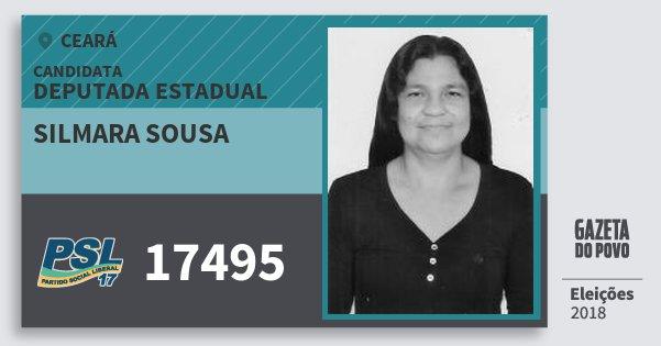 Santinho Silmara Sousa 17495 (PSL) Deputada Estadual | Ceará | Eleições 2018