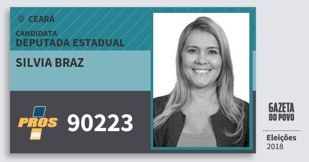 Santinho Silvia Braz 90223 (PROS) Deputada Estadual | Ceará | Eleições 2018