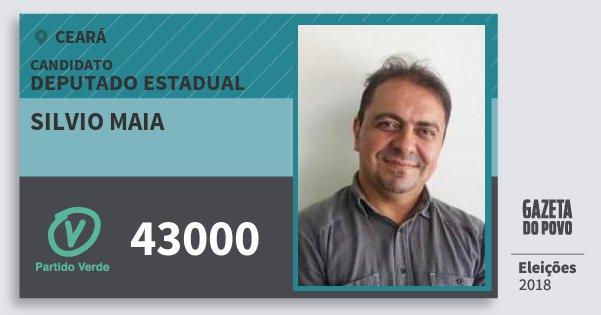 Santinho Silvio Maia 43000 (PV) Deputado Estadual | Ceará | Eleições 2018