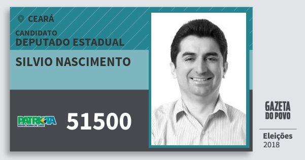 Santinho Silvio Nascimento 51500 (PATRI) Deputado Estadual | Ceará | Eleições 2018