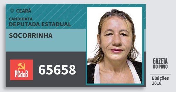 Santinho Socorrinha 65658 (PC do B) Deputada Estadual | Ceará | Eleições 2018
