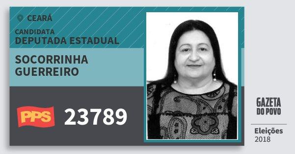 Santinho Socorrinha Guerreiro 23789 (PPS) Deputada Estadual | Ceará | Eleições 2018