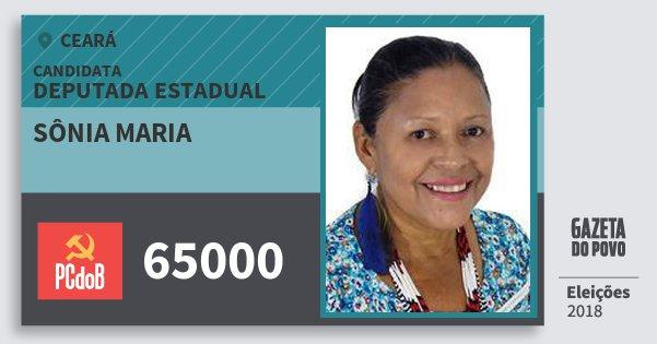 Santinho Sônia Maria 65000 (PC do B) Deputada Estadual   Ceará   Eleições 2018