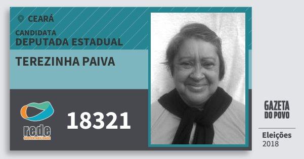 Santinho Terezinha Paiva 18321 (REDE) Deputada Estadual | Ceará | Eleições 2018