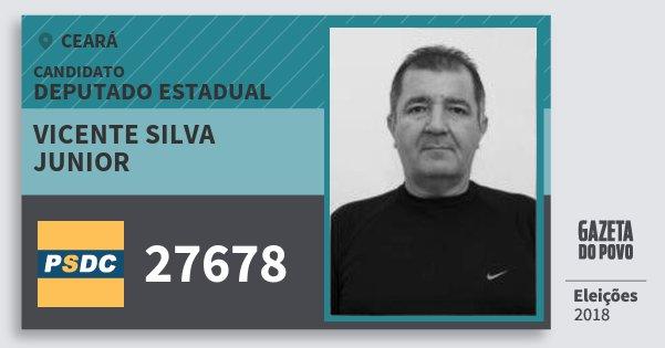 Santinho Vicente Silva Junior 27678 (DC) Deputado Estadual | Ceará | Eleições 2018