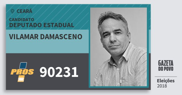 Santinho Vilamar Damasceno 90231 (PROS) Deputado Estadual | Ceará | Eleições 2018