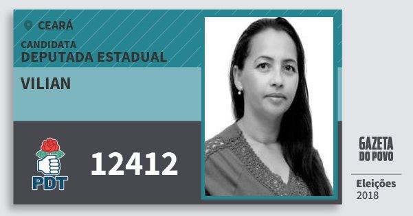 Santinho Vilian 12412 (PDT) Deputada Estadual | Ceará | Eleições 2018