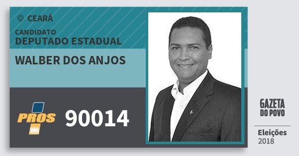 Santinho Walber dos Anjos 90014 (PROS) Deputado Estadual | Ceará | Eleições 2018