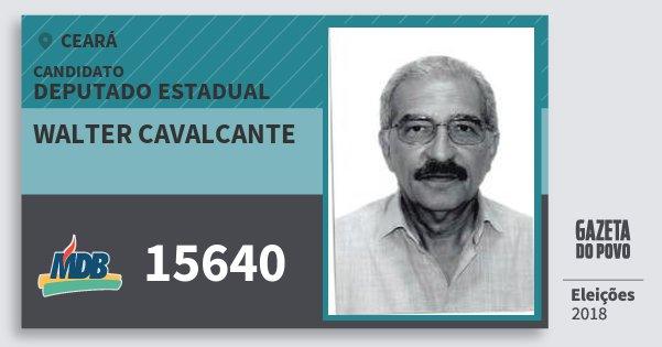 Santinho Walter Cavalcante 15640 (MDB) Deputado Estadual | Ceará | Eleições 2018