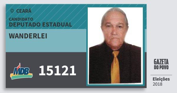 Santinho Wanderlei 15121 (MDB) Deputado Estadual | Ceará | Eleições 2018