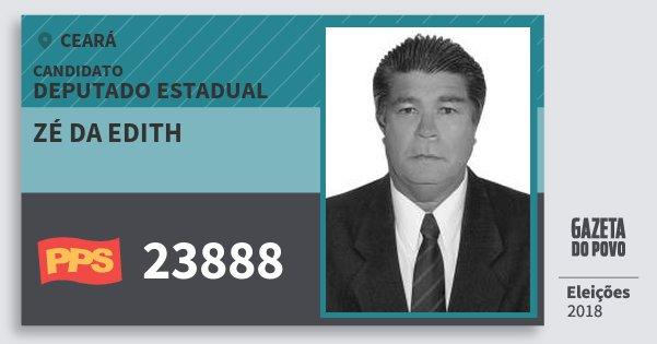 Santinho Zé da Edith 23888 (PPS) Deputado Estadual | Ceará | Eleições 2018