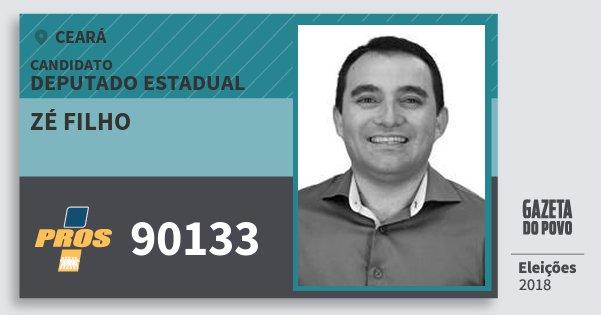 Santinho Zé Filho 90133 (PROS) Deputado Estadual | Ceará | Eleições 2018