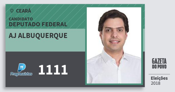 Santinho Aj Albuquerque 1111 (PP) Deputado Federal | Ceará | Eleições 2018