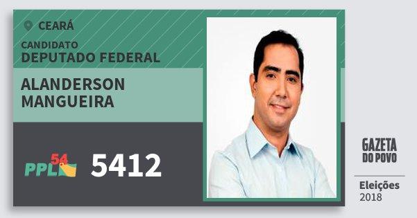 Santinho Alanderson Mangueira 5412 (PPL) Deputado Federal | Ceará | Eleições 2018