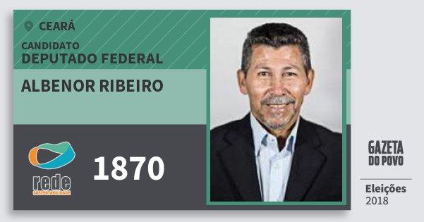 Santinho Albenor Ribeiro 1870 (REDE) Deputado Federal | Ceará | Eleições 2018