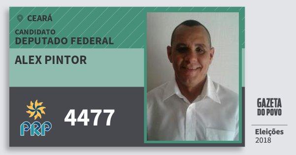 Santinho Alex Pintor 4477 (PRP) Deputado Federal | Ceará | Eleições 2018