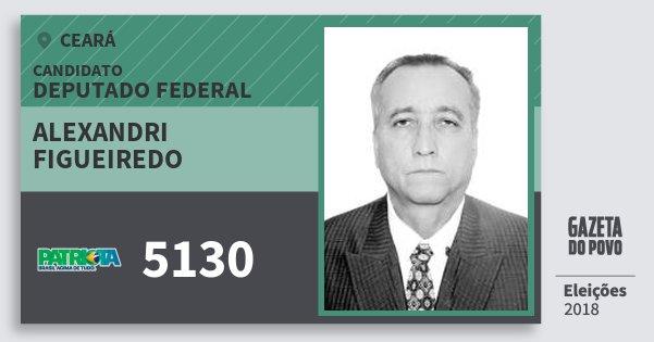 Santinho Alexandri Figueiredo 5130 (PATRI) Deputado Federal | Ceará | Eleições 2018