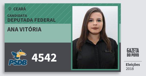 Santinho Ana Vitória 4542 (PSDB) Deputada Federal   Ceará   Eleições 2018