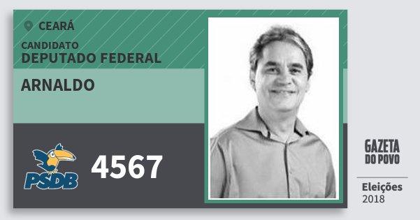 Santinho Arnaldo 4567 (PSDB) Deputado Federal | Ceará | Eleições 2018