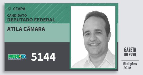 Santinho Atila Câmara 5144 (PATRI) Deputado Federal | Ceará | Eleições 2018