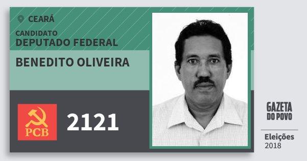 Santinho Benedito Oliveira 2121 (PCB) Deputado Federal | Ceará | Eleições 2018
