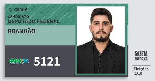 Santinho Brandão 5121 (PATRI) Deputado Federal | Ceará | Eleições 2018