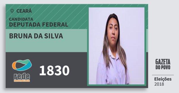 Santinho Bruna da Silva 1830 (REDE) Deputada Federal | Ceará | Eleições 2018