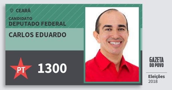 Santinho Carlos Eduardo 1300 (PT) Deputado Federal | Ceará | Eleições 2018