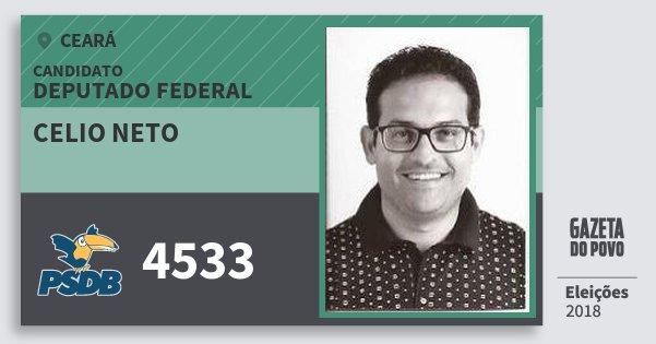 Santinho Celio Neto 4533 (PSDB) Deputado Federal | Ceará | Eleições 2018