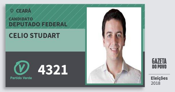 Santinho Celio Studart 4321 (PV) Deputado Federal | Ceará | Eleições 2018