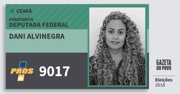 Santinho Dani Alvinegra 9017 (PROS) Deputada Federal | Ceará | Eleições 2018