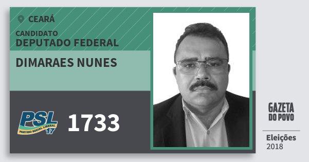 Santinho Dimaraes Nunes 1733 (PSL) Deputado Federal | Ceará | Eleições 2018
