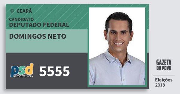 Santinho Domingos Neto 5555 (PSD) Deputado Federal | Ceará | Eleições 2018