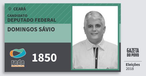 Santinho Domingos Sávio 1850 (REDE) Deputado Federal | Ceará | Eleições 2018