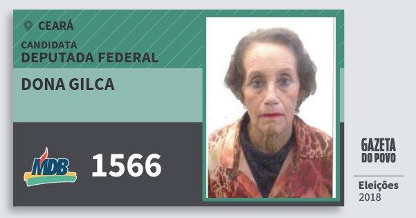 Santinho Dona Gilca 1566 (MDB) Deputada Federal | Ceará | Eleições 2018