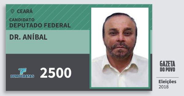 Santinho Dr. Aníbal 2500 (DEM) Deputado Federal | Ceará | Eleições 2018