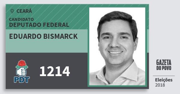 Santinho Eduardo Bismarck 1214 (PDT) Deputado Federal | Ceará | Eleições 2018