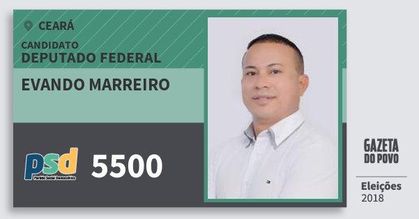 Santinho Evando Marreiro 5500 (PSD) Deputado Federal | Ceará | Eleições 2018
