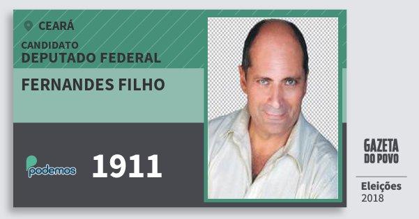 Santinho Fernandes Filho 1911 (PODE) Deputado Federal | Ceará | Eleições 2018