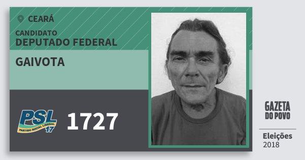 Santinho Gaivota 1727 (PSL) Deputado Federal | Ceará | Eleições 2018