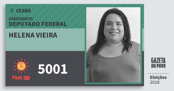 Santinho Helena Vieira 5001 (PSOL) Deputado Federal | Ceará | Eleições 2018