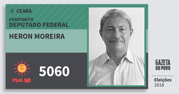 Santinho Heron Moreira 5060 (PSOL) Deputado Federal | Ceará | Eleições 2018