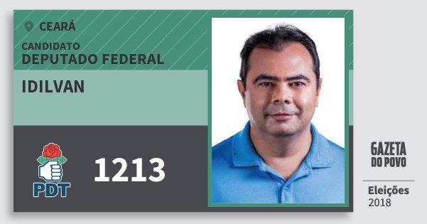 Santinho Idilvan 1213 (PDT) Deputado Federal | Ceará | Eleições 2018