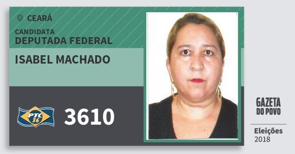 Santinho Isabel Machado 3610 (PTC) Deputada Federal | Ceará | Eleições 2018