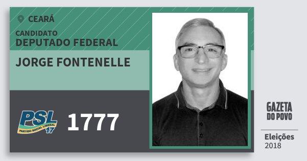 Santinho Jorge Fontenelle 1777 (PSL) Deputado Federal | Ceará | Eleições 2018
