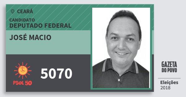 Santinho José Macio 5070 (PSOL) Deputado Federal | Ceará | Eleições 2018
