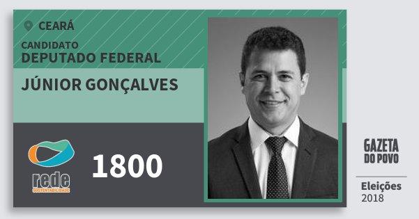 Santinho Júnior Gonçalves 1800 (REDE) Deputado Federal | Ceará | Eleições 2018